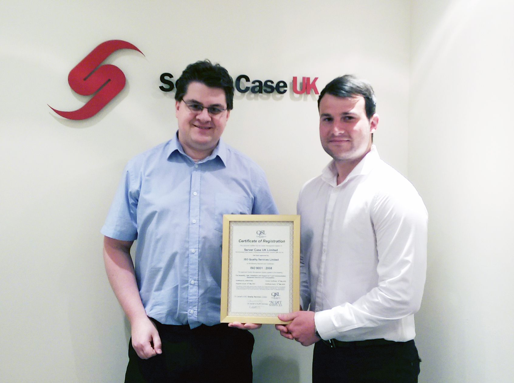 Server Case UK is now ISO 9001:2008 Certified