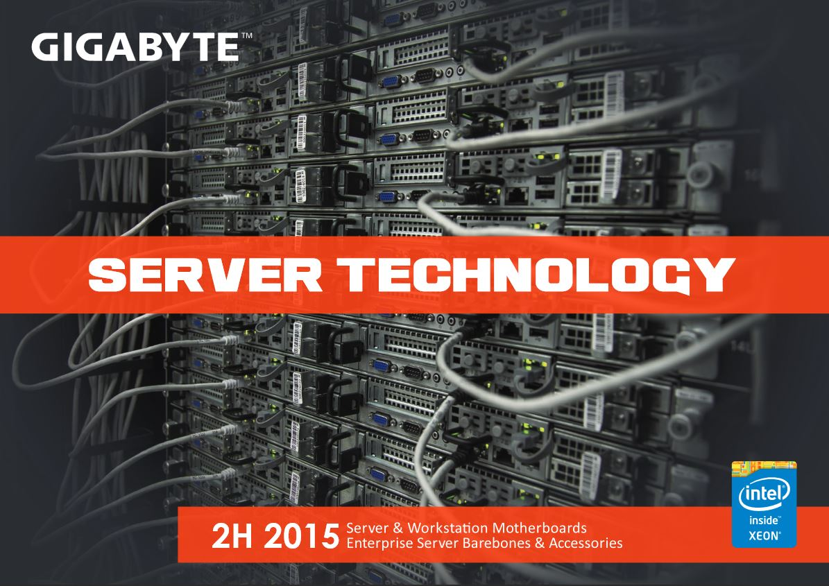 Gigabyte 2015 Server Motherboard and Barebone Catalogue Online