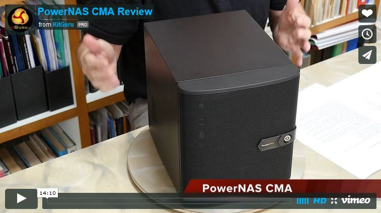 PowerNAS CMA Review by KitGuru