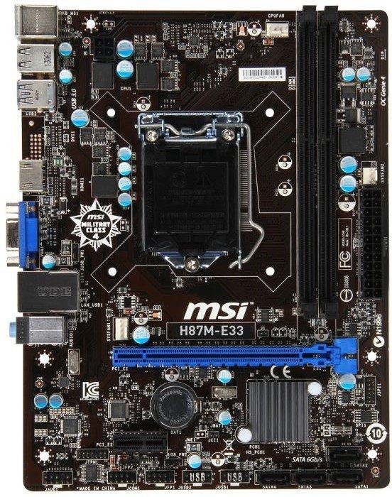 MSI H87M-E33 Driver Download (2019)