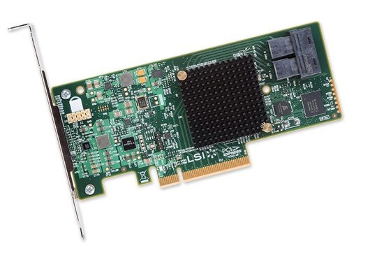 8-PORT INT 12GB/S SATA+SAS PCIE3.0 HBA LSI00344