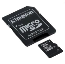 Kingston 8gb High Capacity Micro Sd Card With Sd Adaptor