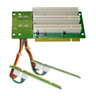 2U 3 x PCI-32bit Fixed/Ribbon Risercard