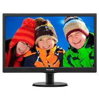 Philips (19.5 inch) LCD Monitor with LED Backlight 1600x900 (Black)