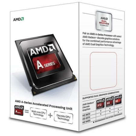 AMD A6 X2 6300K CPU FM2 65W 3.7GHz 1MB Cache 32nm Radeon HD8370D GFX