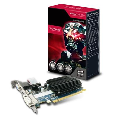 Sapphire Radeon R5 230 Graphic Card - 625 MHz Core - 1 GB DDR3 SDRAM - PCI Express 2.1 - Low-profile