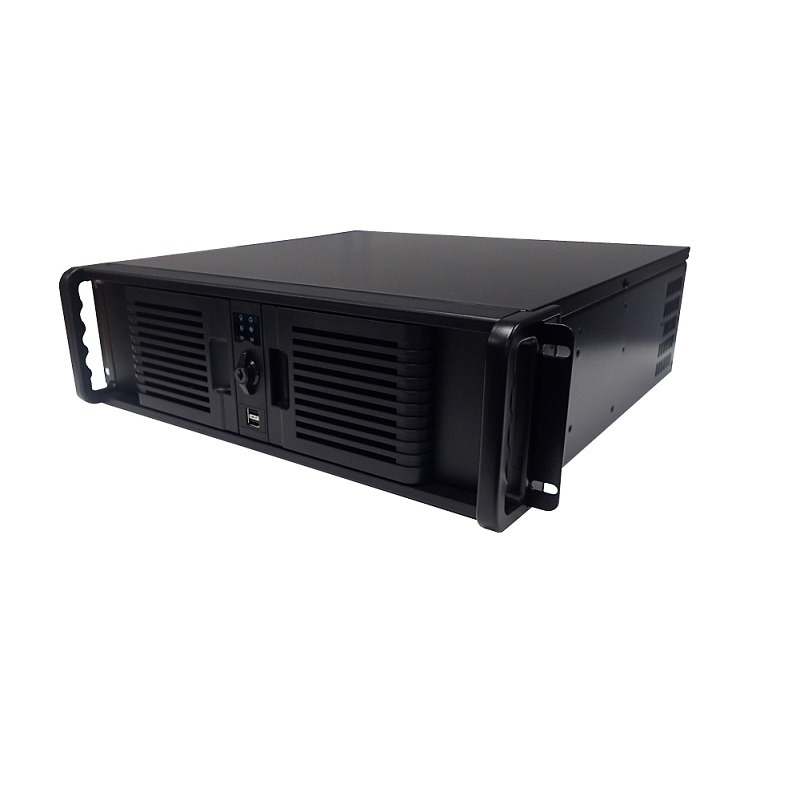 3U Micro ATX short chassis with two door ,1x6 cm fan. PS2