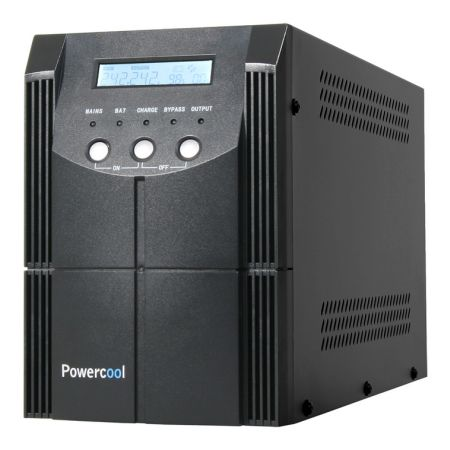 Powercool 2000VA Smart UPS 1200W LCD Display 2 x UK Plug 2 x RJ45 4 x IEC USB Retail