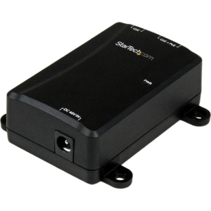 StarTech.com 1 Port Gigabit PoE Power over Ethernet Injector 48V / 30W - 802.3at / 802.3af - Wall-Mountable