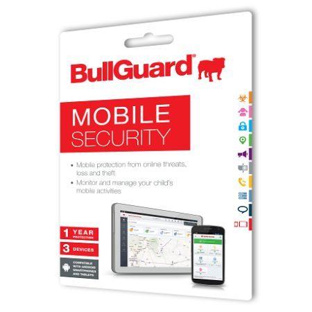 Bullguard New Mobile Internet Security 1 Year 3 Devices Retail (Single)