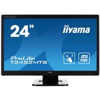 Iiyama ProLite T2452MTS-4 (24 inch Multi-touch) LED Backlit LCD Monitor 1000:1 260cd/m2 (1920x1080) 2ms VGA/DVI/HDMI (Black)