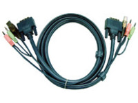 Aten 2L-7D02U DVI KVM Cable - DVI + USB + Audio for CS Series (1.8m)
