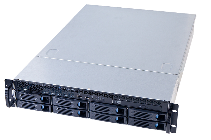 2U Entry Computing and Storage Server Chassis - 8x 3.5