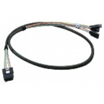 AIC Internal SAS Cable 50cm SFF8087 to 4x 7-pin SATA/SAS (Internal Mini SAS to SATA Reverse Cable)
