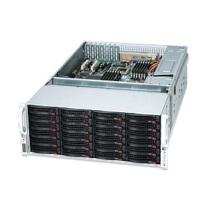 Supermicro SuperChassis SC847E1-R1400LPB Computer Case - ATX, EATX Motherboard Supported - Rack-mountable - Black