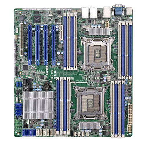 Asrock Rack EP2C602-4L/D16 Server Board, Intel C602, 2011, SSI EEB, Quad GB LAN, IPMI LAN, Serial Port