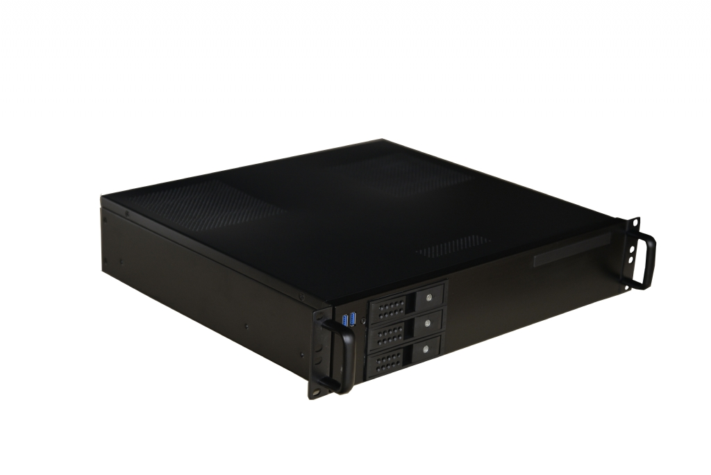 2U Short Depth HTPC Server Case w/ 3 x Hot Swap