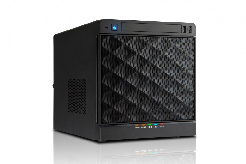 In-Win IW-MS04-01 - Mini-ITX NAS Case w/ 4x Hot-Swap Bays (SATA Discrete Connection) - 265W ATX PSU Included