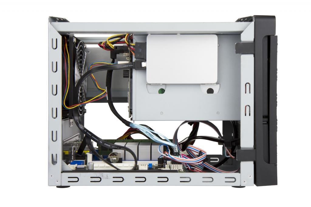In-Win IW-MS04-01 - Mini-ITX NAS Case w/ 4x Hot-Swap Bays (SATA Discrete  Connection) - 265W ATX PSU Included