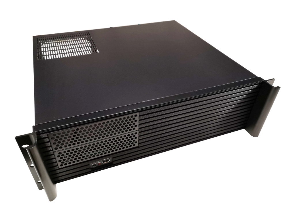 3U Short Depth Chassis with aluminium Louver front with 2x 5.25