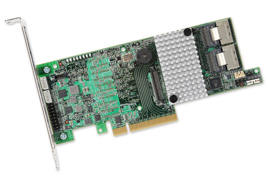 Broadcom SAS 9271-8i Single, 8-Port Internal, 6Gb/s SATA+SAS, PCIe 3.0, 1GB DDR 3