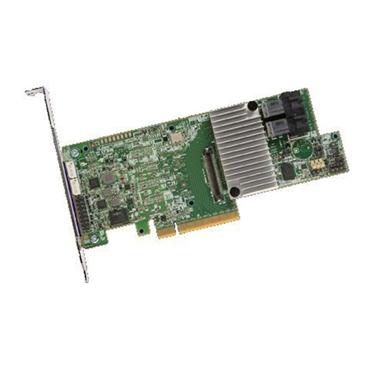 8 Port Broadcom SAS 9361-8i SGL, Internal, 12Gb/s SATA+SAS, PCIe 3.0, 2x Internal x4 SFF8643, 1 GB DDR 3