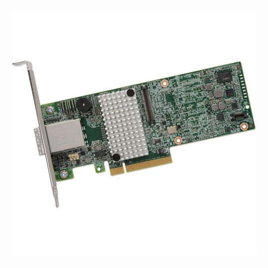 8 Port Broadcom MegaRAID SAS 9380-8e SGL Ext., 12Gb/s SATA+SAS, PCIe 3.0, 1GB DDR3