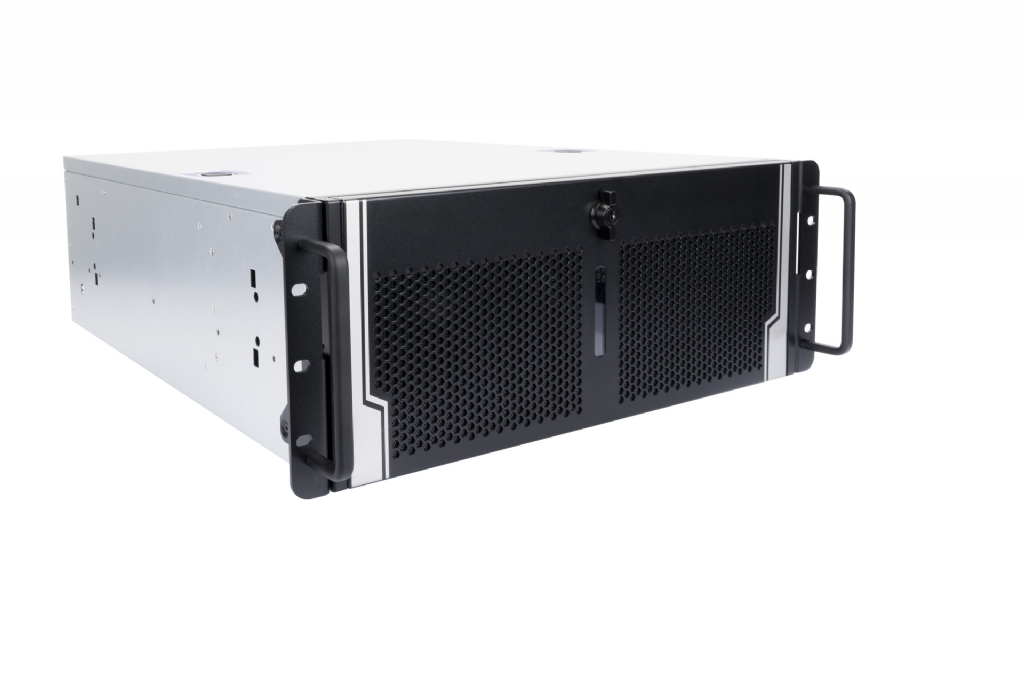 In-Win IW-R400-03N - 4U Rack Server Chassis w/ Lockable Door - 4x GPU Backplane - Ideal for Rendering, Mining and HPC