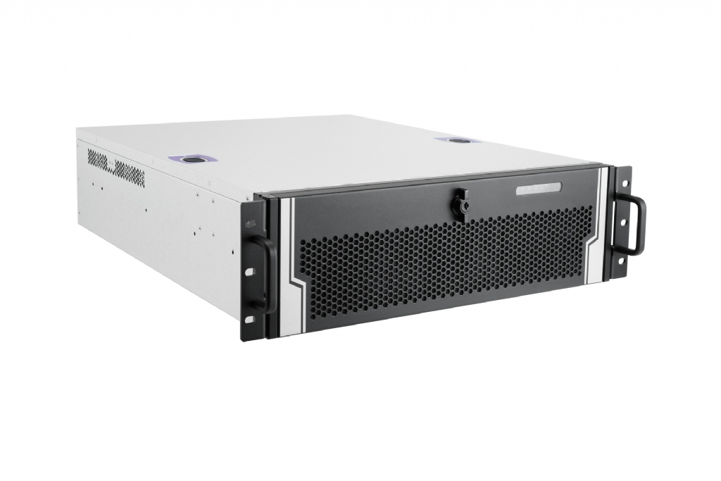 In-Win IW-R300-01N - 3U Feature Rich Short Depth Server Chassis for CCTV Applications