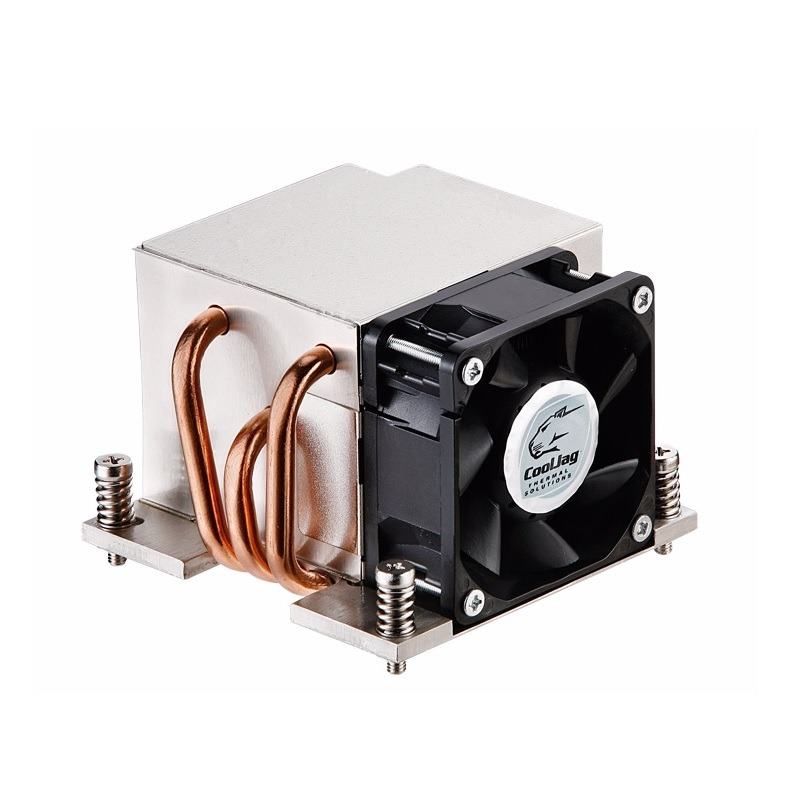 2U Active CPU Cooler With Side Fan Socket LGA 2011 Square
