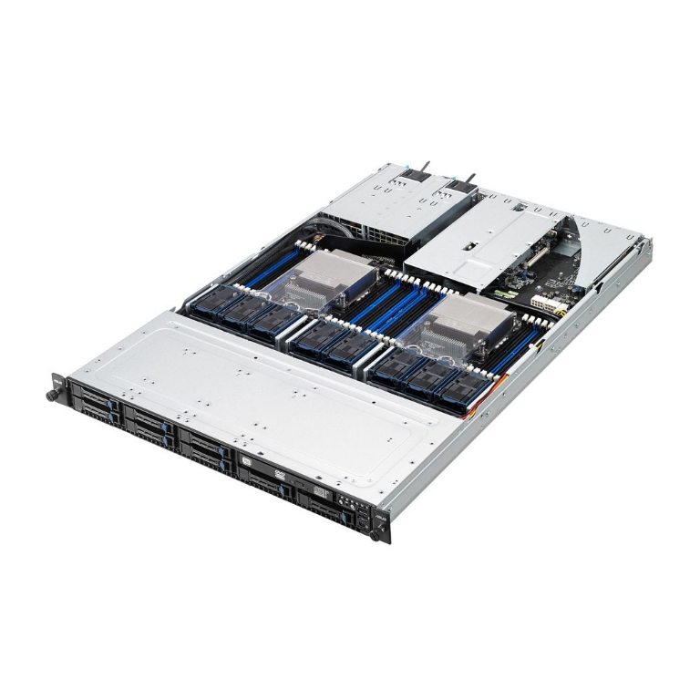 1U ASUS RS700-E8-RS8 V2, Intel C612, LGA 2011-v3, ASUS Pike II, One full-height PCIe 3.0 x16 slot and one LP PCIe slot