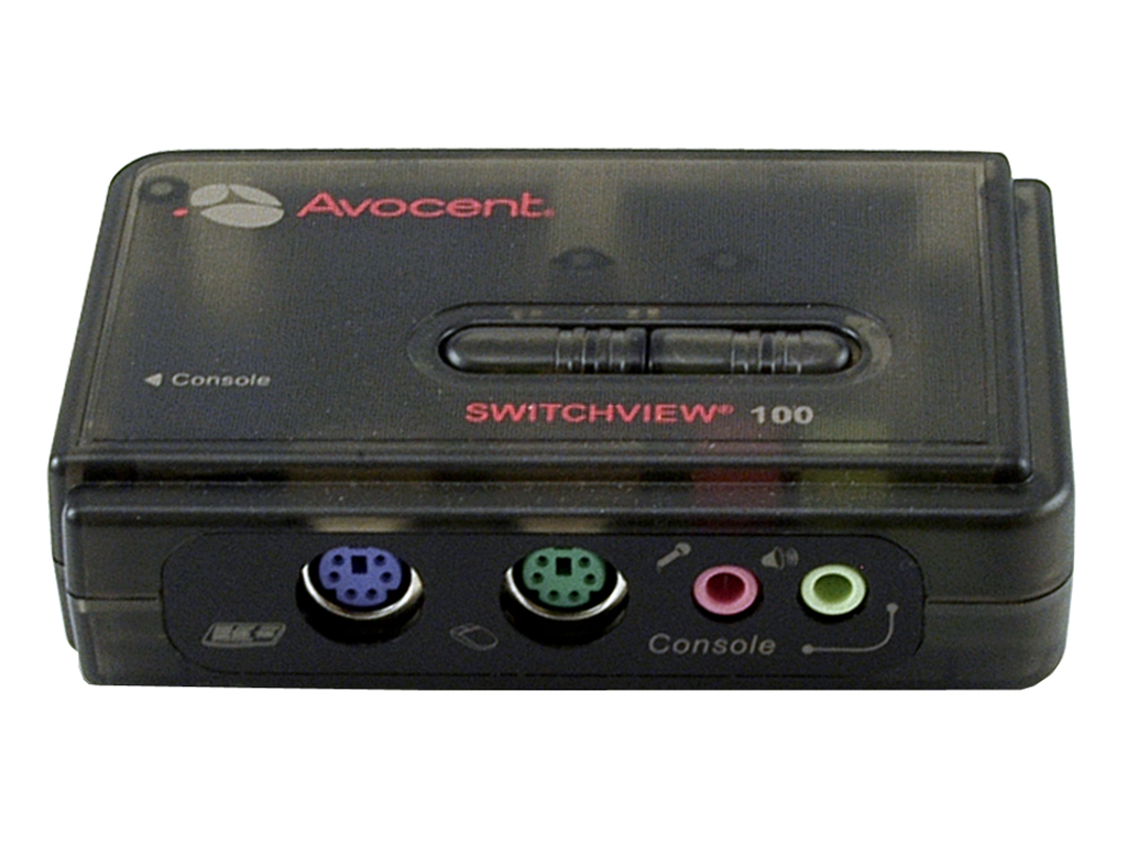 Avocent SwitchView 100 Series 2 Port PS/2 Desktop KVM Switch with Audio Cable Sets