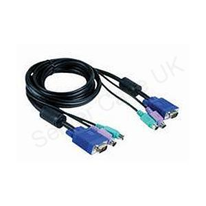 D-Link DKVM-CB Cable Kit for DKVM Products - PS/2 Keyboard Cable, PS/2 Mouse Cable & Monitor Cable