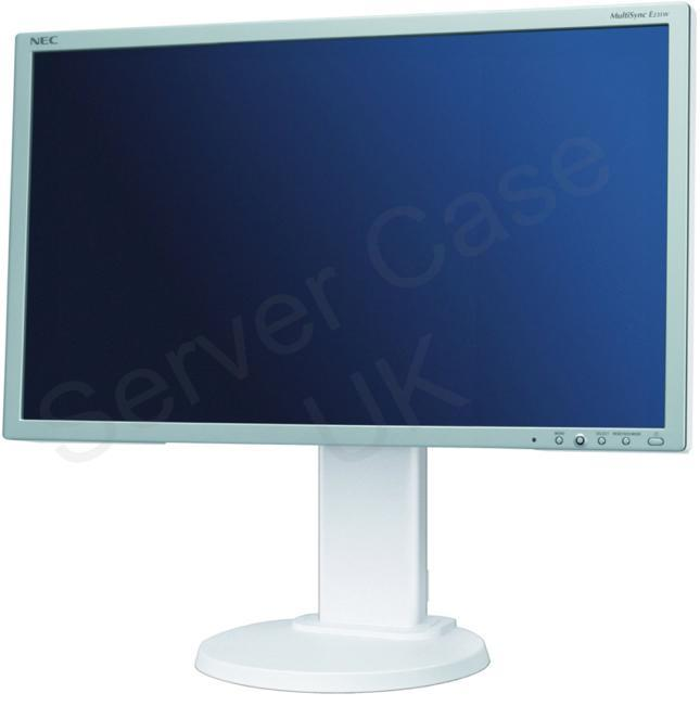 NEC Displays MultiSync E231W 23 inch Wide TFT LCD Monitor 1000:1 250cd/m2 1920 x 1080 5ms DVI with Led Blu (White)