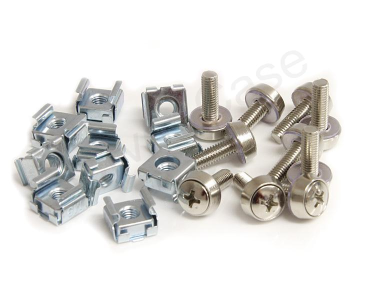 StarTech 50 Pkg Mounting Screws and Cage Nuts for Server Rack Cabinet