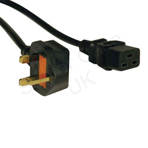 Tripp Lite 2.4m Power Cord IEC-320-C19 to BS-1363 UK Plug (Black)