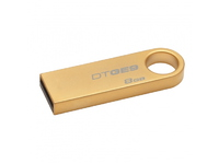 Kingston DataTraveler GE9 8 GB USB 2.0 Flash Drive - Gold - 1 Pack