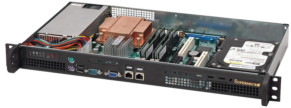Supermicro SuperChassis 503-200B (Black)