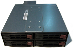 Supermicro 4-Bay SAS/SATA Mobile Rack (Black)
