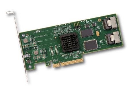 LSI PCI Express, 3Gb/s SAS/ SATA HBA, 8-port, IR