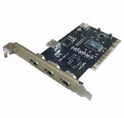 Dynamode 3 Port PCI IEEE 1394 (Firewire) Card