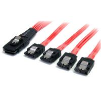 StarTech.com (50cm) Serial Attached SCSI SAS Cable - SFF-8087 to 4 x Latching SATA