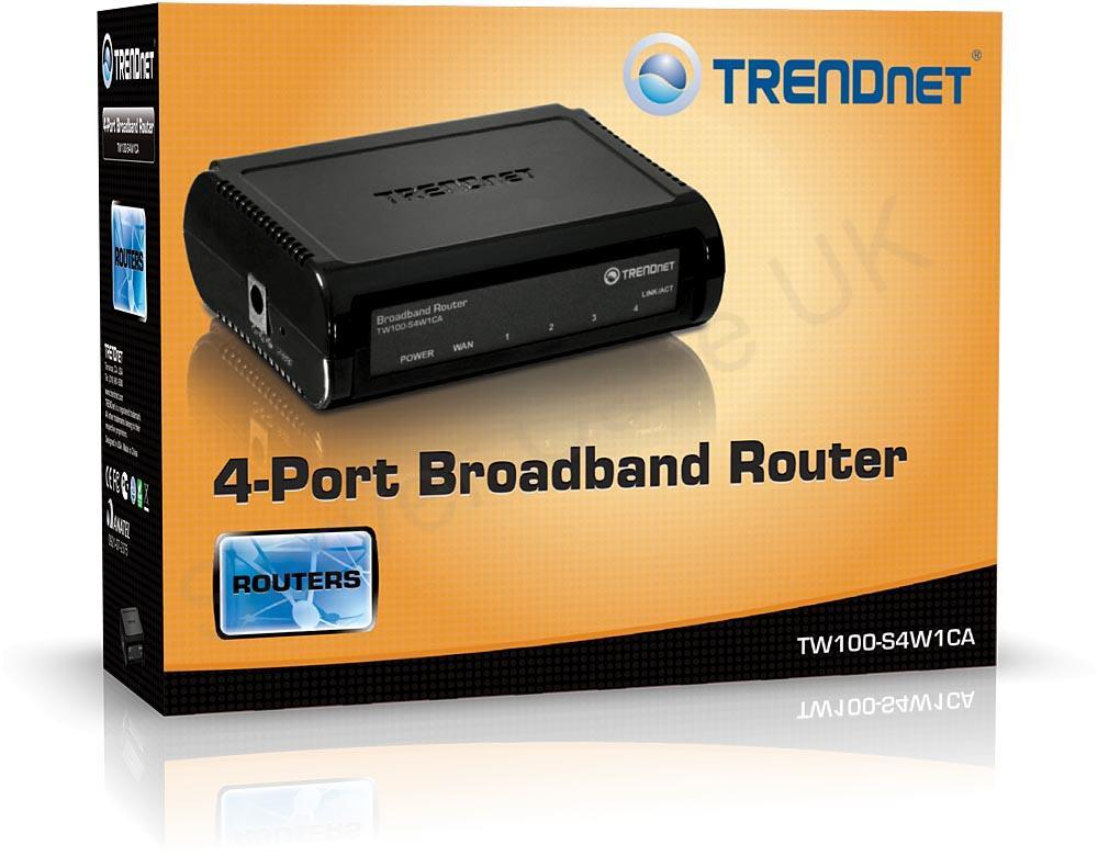 TRENDnet TW100-S4W1CA v2.0R Router Driver for Windows 10