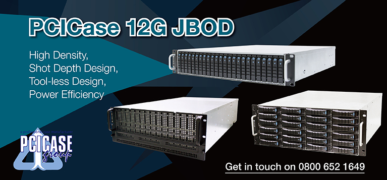 PCI Case Range of 12Gbps JBOD Enclosures - 12 Bay to 60 Bay