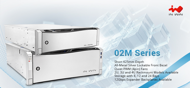 Latest In-Win 02M Series Rackmount Storage Server Chassis