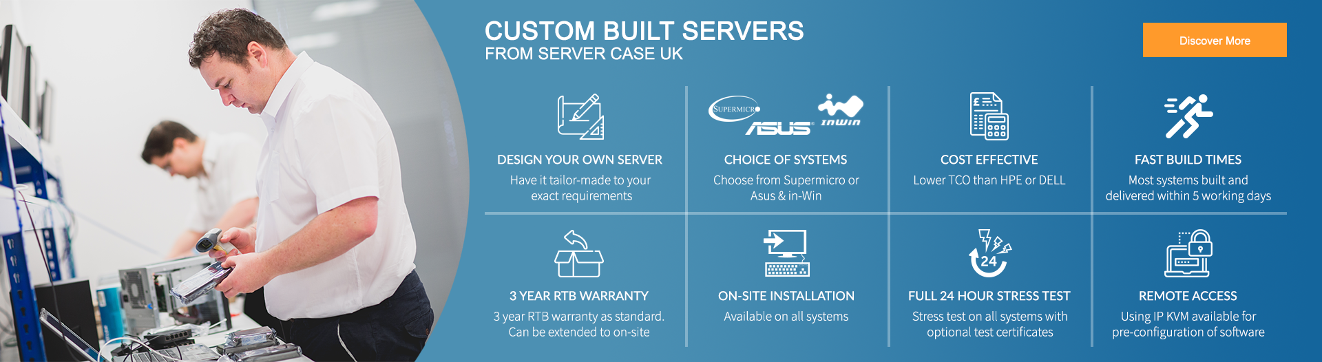 Custom Built Servers from Server Case UK